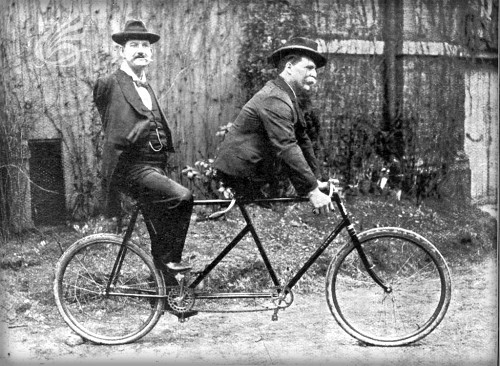 Armless Wonder, Charles Tripp (1855-1930) with Bowen. Image: Ringling Brothers.