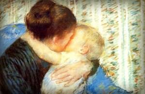 Mother and Child, Mary Cassatt-1880. Image: Wikipedia.