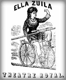 Ellas Zuila, Velocipede on Tightrope. Image: Wikipedia.