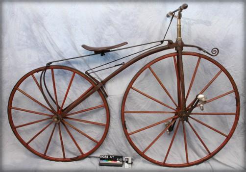 Two-wheeled velociped bike.