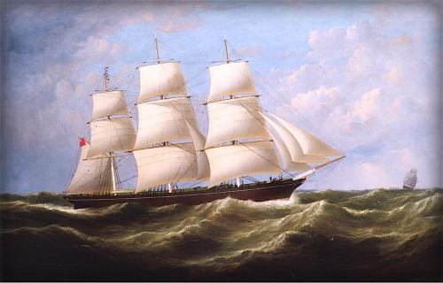 Vespasian Clipper Ship by Samuel Walters - 1861. Image: Wikimedia.