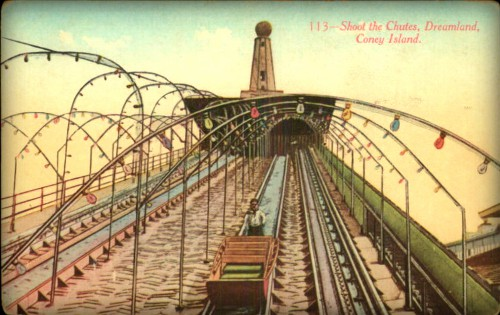 Coney Island Dreamland: The Chutes. Image: Library of Congress.
