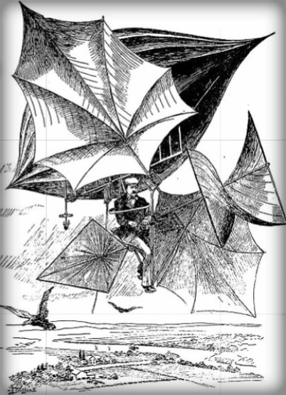 Carl Meyer's Sky Cycle, 1895 Image: Wikipedia.