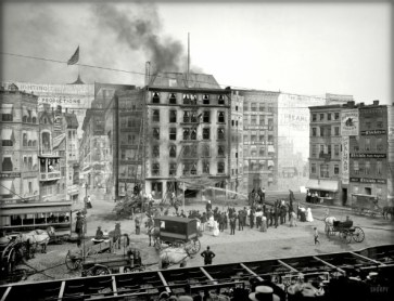 Coney Island Dreamland: Flames Show. Image: Library of Congress.
