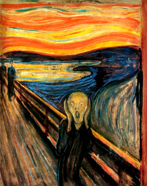 The Scream by Edvard Munch, 1893. Image: Wikipedia.