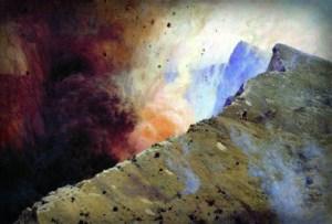 Volcano Eruption by Nikolai Aleksandrovich Yaroshenko - 1898. Image: Wikipedia.