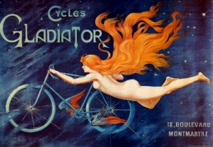 Cycles Gladiator, Advertising Poster, by Georges Massias c. 1895-1900. Image: Wikipedia.