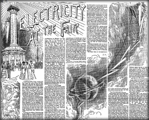 Chicago Tribune article says Electricity at the Fair, October 8, 1893.