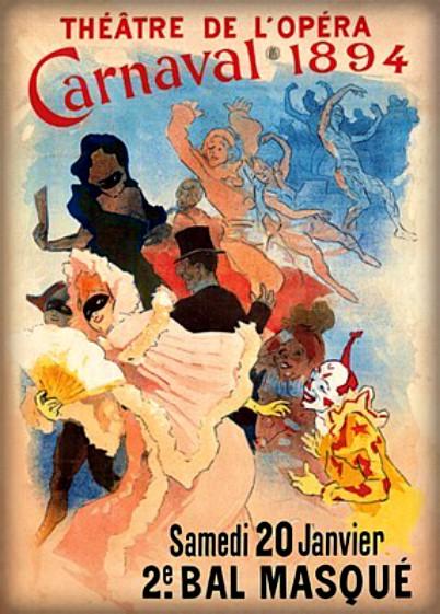 Jules Chéret Style; Carnaval, 1894. Image: Wikipedia.