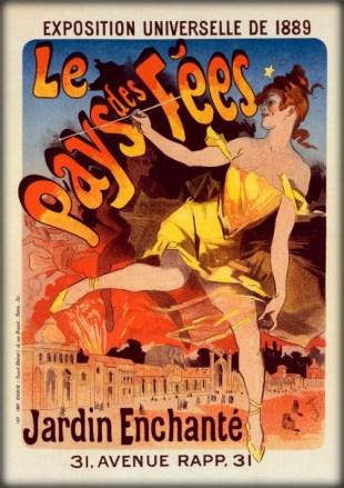 Jules Chéret Cherettes-Le Pays des Fees, Exposition Universelle, 1889. Image: Wikipedia.
