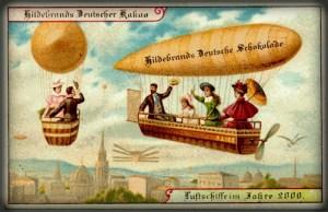 Futuristic Victorian Postcards : Individual Blimps. Image: Wikipedia.