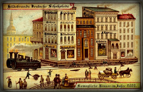 Futuristic Victorian Postcards : Mobile Buildings. Image: Wikipedia.