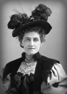 Feathered Victorian Hats: J.L.M. Allen c. 1894. Image: Library of Congress.