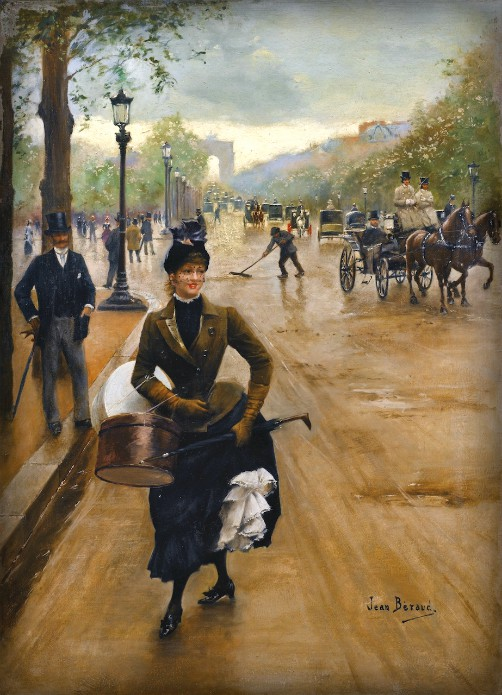 Milliner on Champs Elysees by Jean-Georges Béraud. Image: Wikipedia.