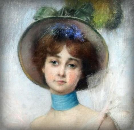 Portrat in Spring Bonnet by Pierre Belleuse. Image: Wikipedia.