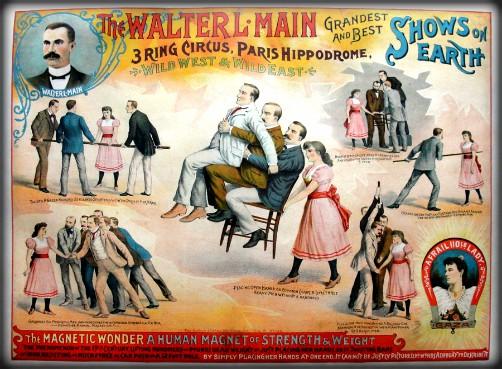Walter Main Circus Poster Featuring Gaza, 1894. Image: Wikipedia.