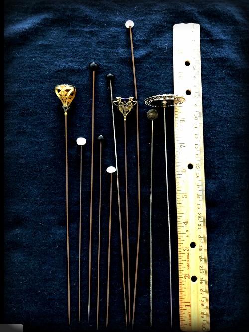Dangerous Victorian Hatpins. Image: ebay-jjfindsstuff.