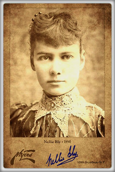 Nellie Bly, c. 1890. Image: Wikipedia.
