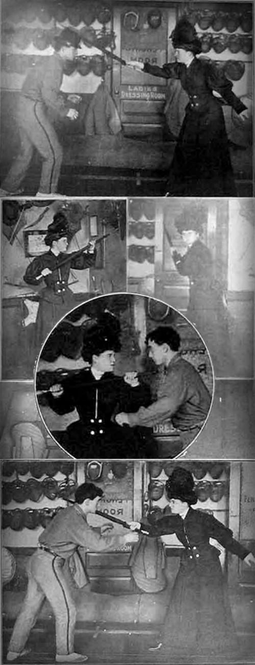 Victorian Umbrella Defense: Philadelphia Institute of Physical Culture, 1908. Image: Bartitusu.org.