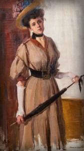 Victorian Umbrella Defense: woman With Umbrella by Valentin Serov. Image: Wikimedia.