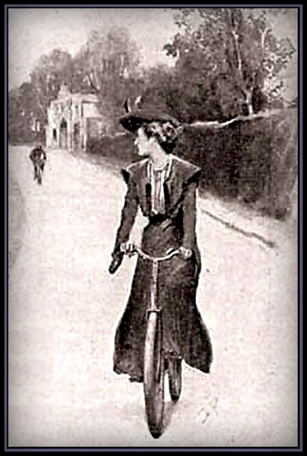 Adventure Solitary Cyclist, 1903, illustrated by Sidney Paget. Image: Wikipedia.