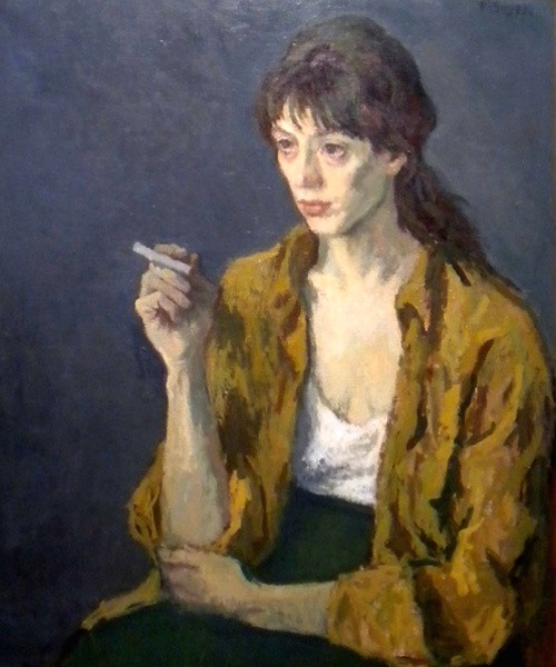Social Realism, Woman With Cigarette. Image: Wikipedia.