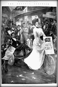 General Election, Illustrated London News, 1900. Image: oldbike.eu.com.