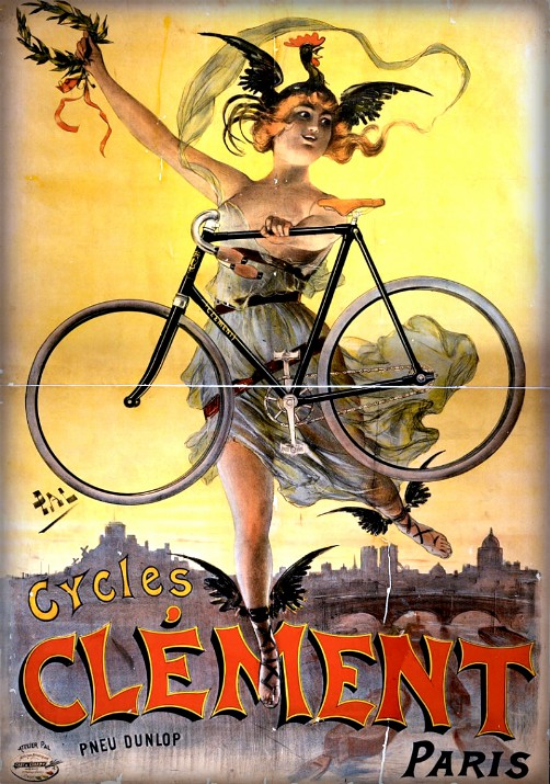 Cycles Clément Paris, 1898 by Jean de Paleologue. Image: Wikipedia.