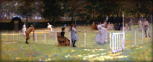 The Tennis Party, by John Lavery, 1885. Image: Wikipedia.