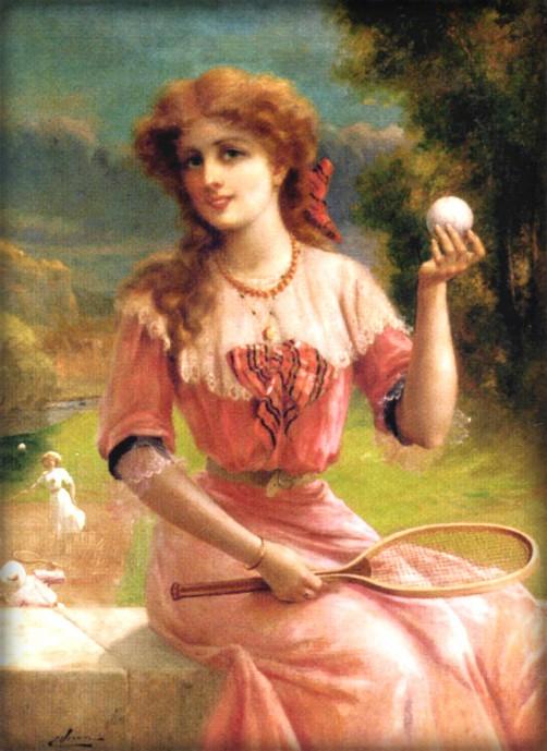 Tennis Anyone by Emile Vernon. Image: Wikimedia.