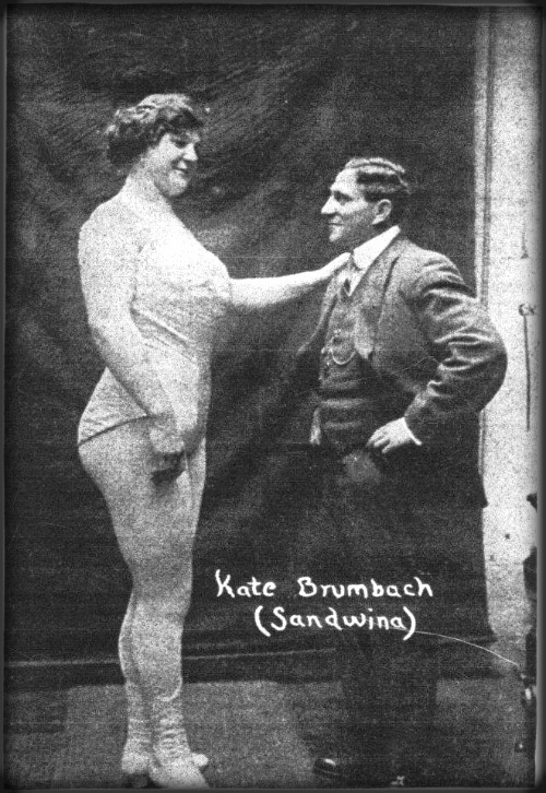 Sandwina with Husband, Max Heyman. Image: Wikipedia.