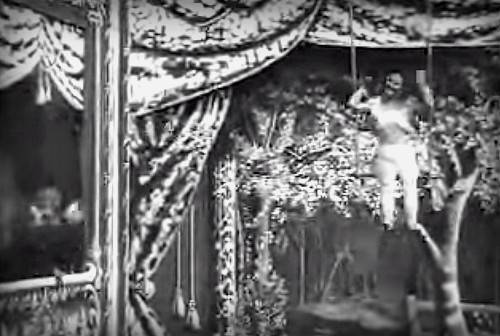 Charmion Swings In 1901 Movie Shot by Edison.. Image: Wikipedia.