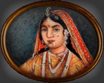 Rani of Jhansi Watercolor on Ivory. Image: Wikipedia.
