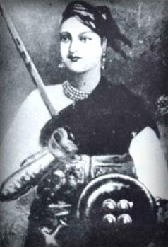 Lakshmibai, the Rani of Jhansi, 1850s or 1860s. Image: Wikipedia.