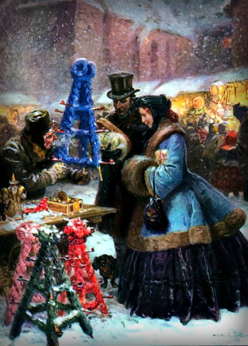 Christmas Market by Hans Gabriel Jentzsch.