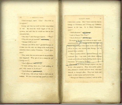 Charles Dickens, A Christmas Carol, Edited Pages. Image: New York Public Library.