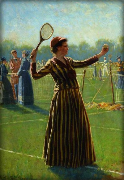 First Serve, 1890 by Harry Roseland. Image: ITHF Museum Collection