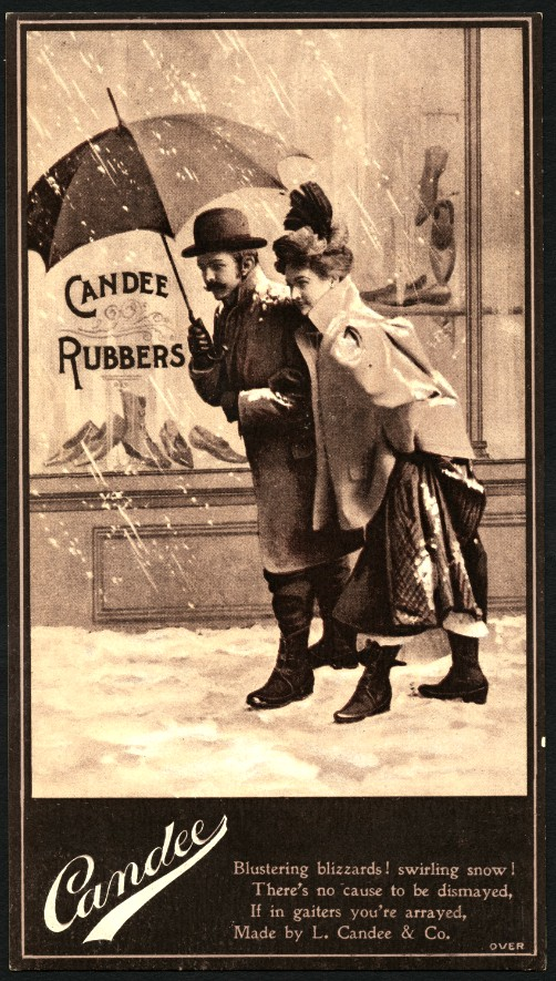 Candee Rubber Shoes, Advertising Card. Image: Boston Public Library.