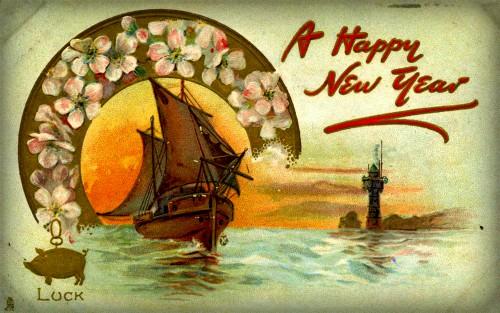 Happy New Year Card. Image: Wikipedia.