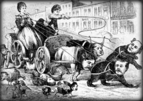 Claflin Woodhull Wall Street Cartoon. Image: Library of Congress.