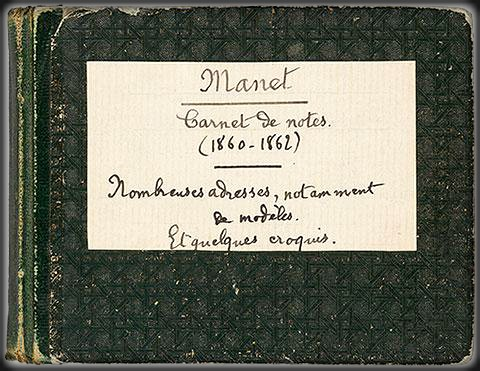 Manet Notebook, 1860s. Image: Morgan Library & Museum.