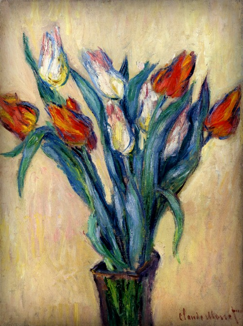 Vase of Tulips, 1886 by Claude Monet. Image: Wikipedia.