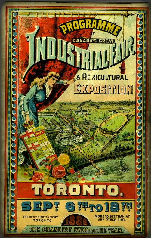Industrial Fair Program, 1886. Image: CNE Heritage.com.