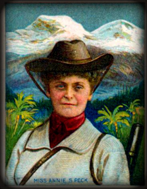 Annie Smith Peck Trading Card. Image: Wikipedia.