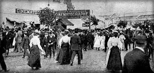Toronto Industrial Exhibition, Lumiere Cinematography, 1896. Image: Wikipedia.