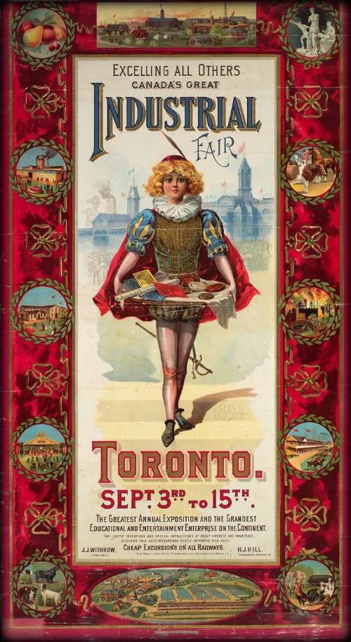 Ad for Canada's Great Industrial Fair, 1894. Image: Toronto Public Library.