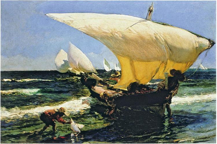 On the Coast of Valencia, 1898. Image: Wikipedia.