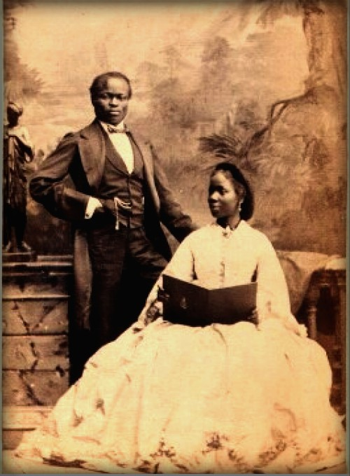 Yoruba Princess With Captain James Pinson Labulo Davies, 1862. Image: National Portrait Gallery; Wikipedia.
