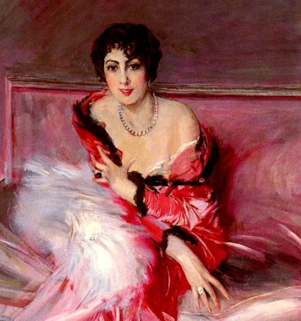 Portrait Of Madame Juillard In Red, 1912 by Giovanni Boldini. Image: Wikipedia.