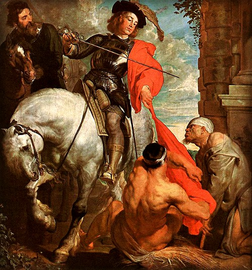 St. Marin Dividing His Cloak by Anthony Van Dyck, 1620. Image: Wikipedia.